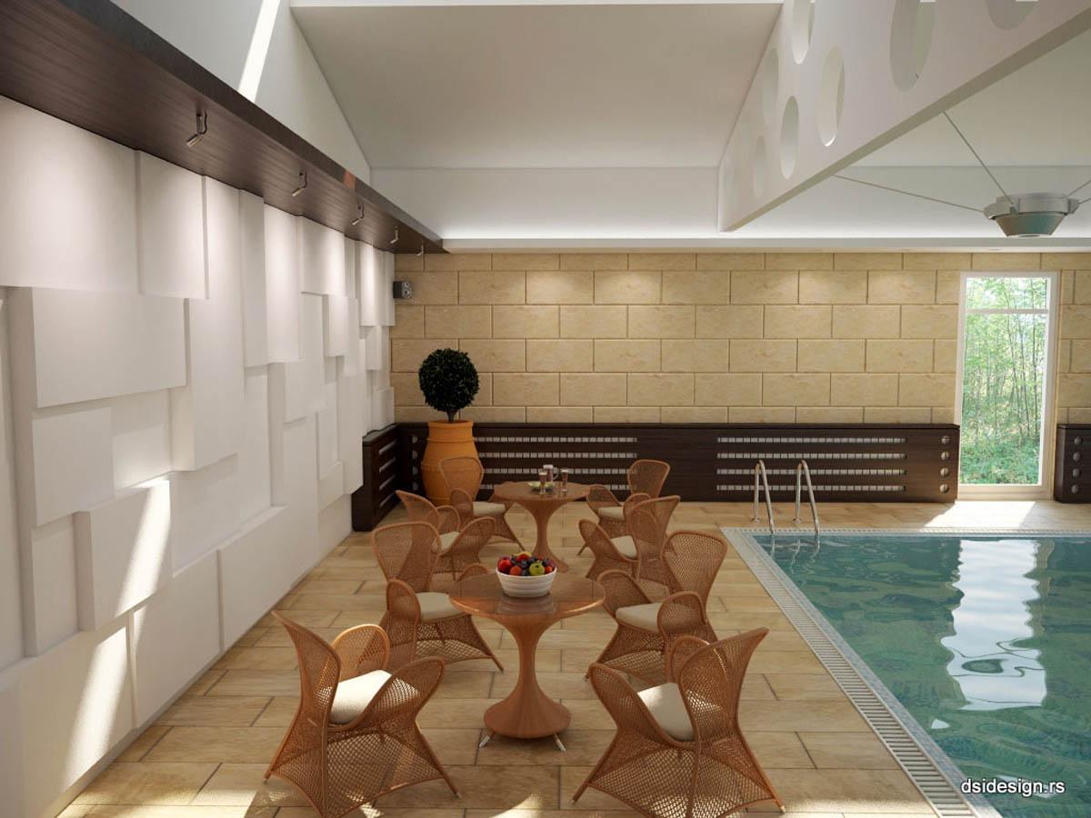 3D Enterijer Luksuzna vila sa bazenom