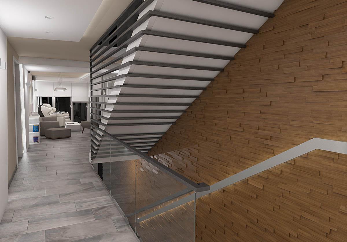 3D arhitektonski detalji Enterijer hotelskog apartmana