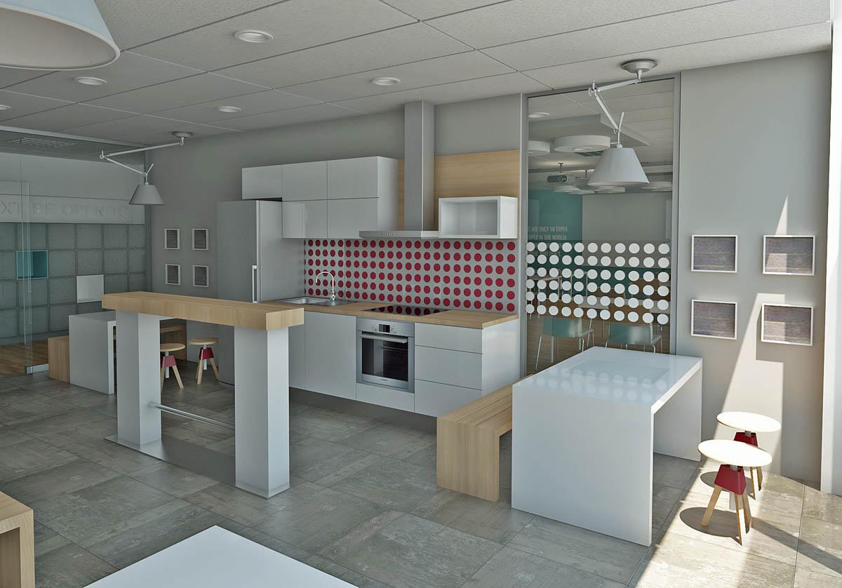 MSG 3D Enterijer kancelarijski prostor 3D Kuhinja