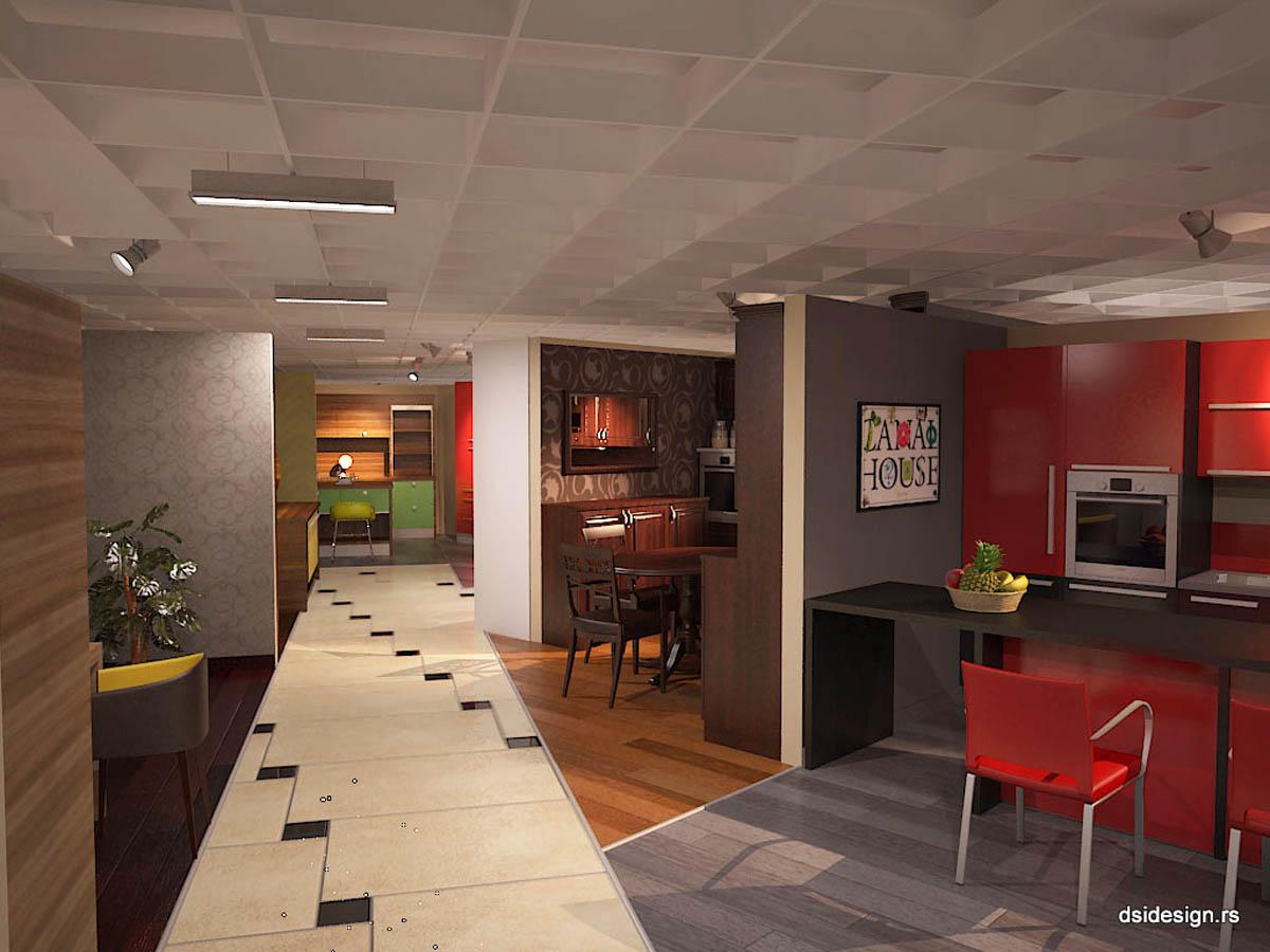 salon nameštaja 3D vizuelizacija enterijera poslovnog prostora