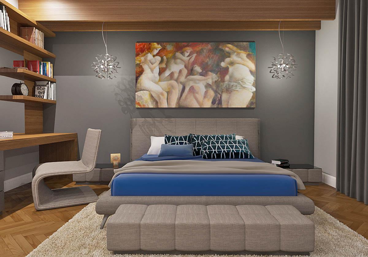 Luksuzni enterijer 3D Vizuelizacija Spavaca soba