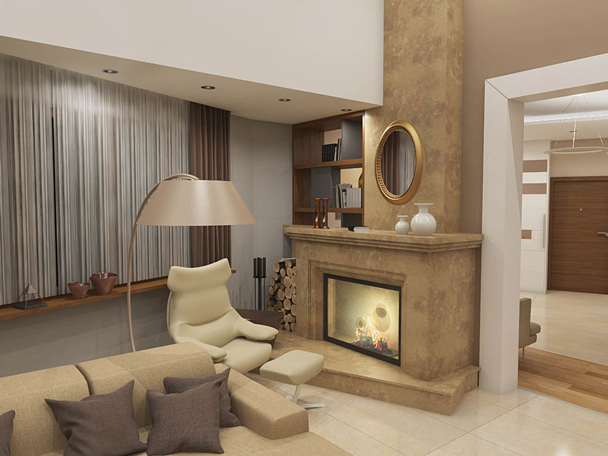 Luksuzni enterijer 3D render Stan 3D Vizuelizacija enterijera