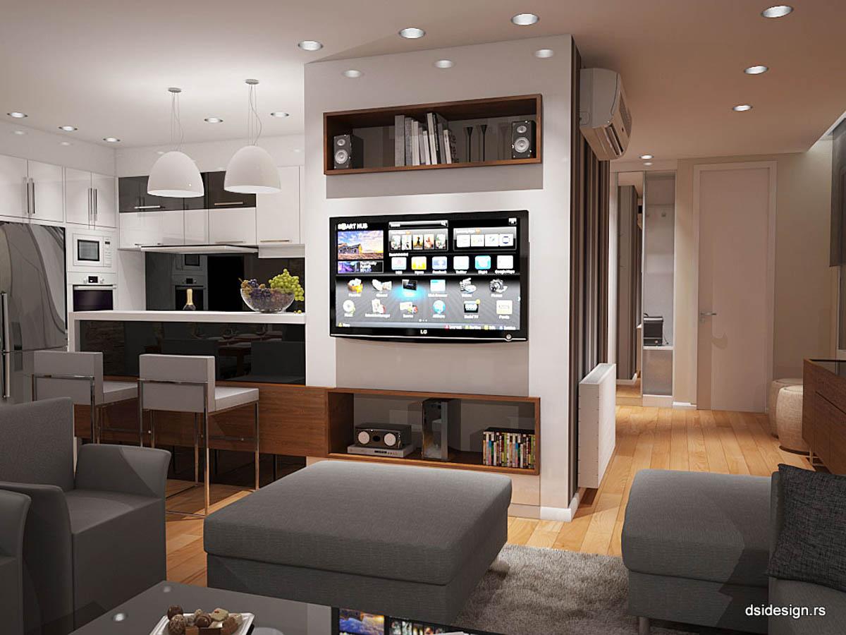 3d stan 3D vizuelizacija Enterijer stambenog prostora