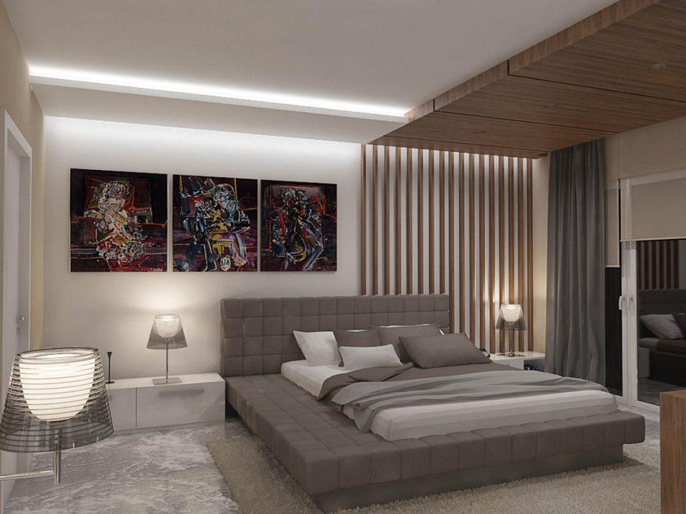 Moderni enterijer spavaća soba 3D vizuelizacija enterijera spavace sobe