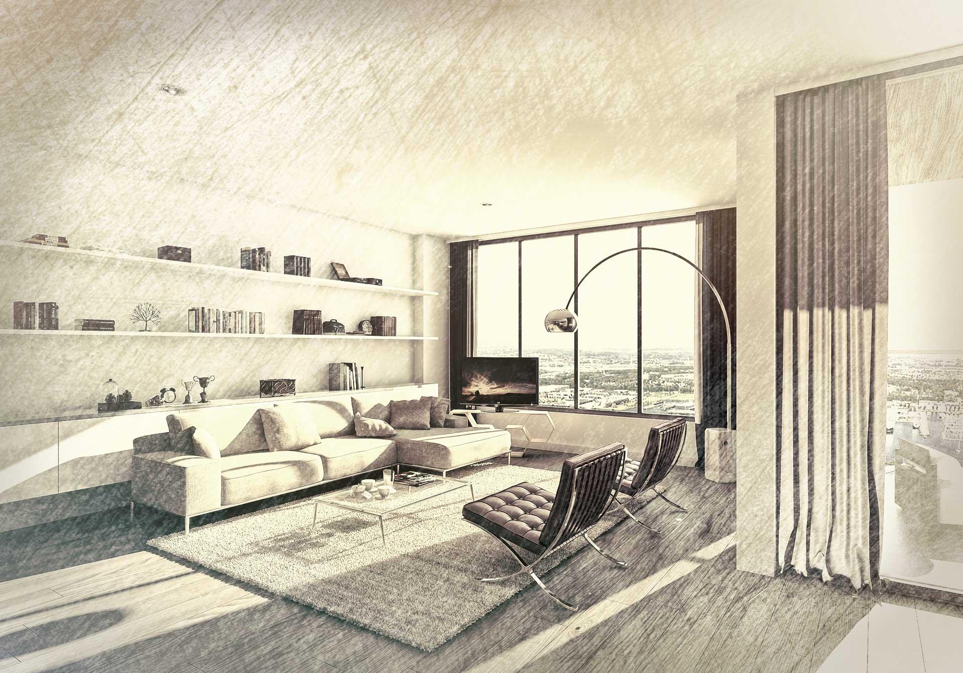 3D rendering apartman