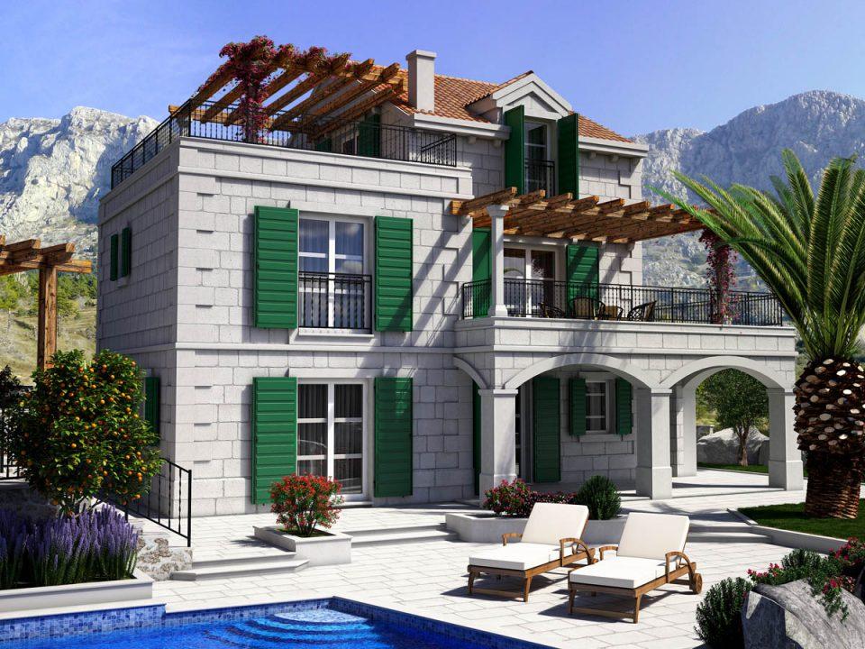 Mediteranska kuća sa bazenom, Hrvatska