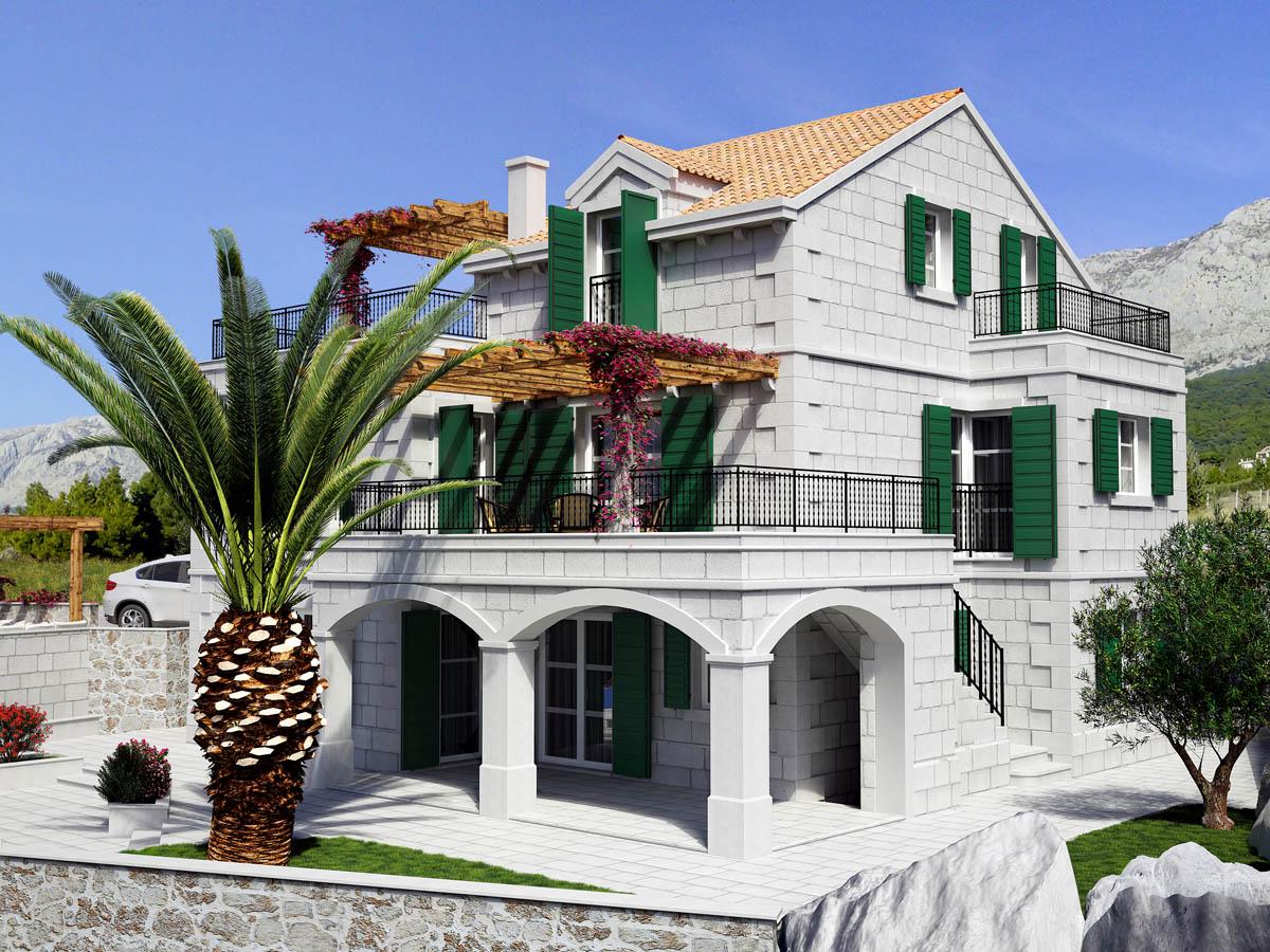 3D vizuelizacija eksterijera mediteranska kuća